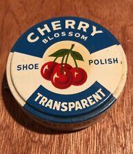 Vintage Cherry Blossom Shoe Polish Tin