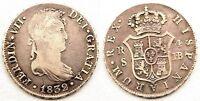 Fernando VII. 4 reales 1832. sevilla. MBC/VF. Plata. 13,4 g. Escasa y mas asi