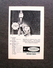 [GCG] M565 - Advertising Pubblicità - 1962 - UNIVERSAL GENEVE , BERTHOUD GENEVE