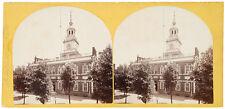 1860s Stereocard - Independence Hall Philadelphia