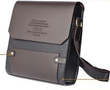 Mens pu Leather Handbag Brown Briefcase Laptop Shoulder Messenger business Bags