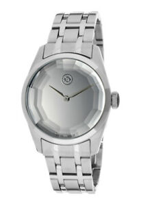 Evisu Women's Minako Swiss Made Watch SILVER Ion Plated Stainless Steel 8001-11