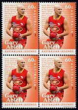 2012 Australian Legends Gary Ablett SG3698 Block of Four MUH Mint Stamps AFL