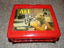 Vintage Alf Red Plastic Lunch Box No Thermos