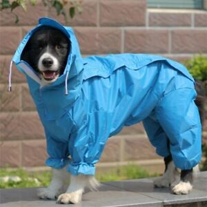 Pet Big Dog Raincoat Waterproof Clothes For Small Medium and Large Dog Jumpsuit