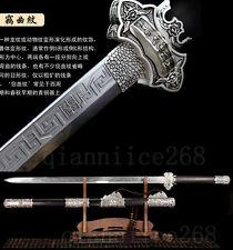 1095 MENG  STEEL BLACK  WOOD  SAYA  SHARP CHINESE TANG  SWORD FULL TANG BLADE