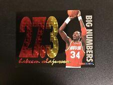 1994 HAKEEM OLAJUWON BIG NUMBERS NBA HOOPS RAINBOW BN3 HOUSTON ROCKETS