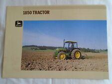 John Deere 1850 Tractor brochure undated English text ref 8-1894072