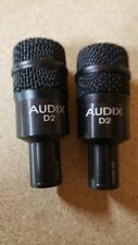 Pair of Audix D2 Dynamic Cable Professional Microphone
