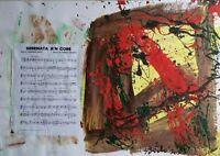 Gianpaolo Berto - Opera originale tecnica mista su  carta del 2015