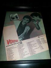 Hall & Oates Voices 1980 Rare Original Tour Promo Poster Ad Framed!
