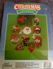 Holiday Cheer Plastic Canvas Kit NIP Good Shepherd Kit #88000, Makes 10, 1989