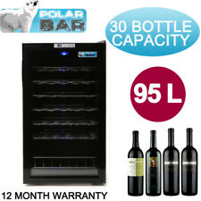 30 Bottle 1 Door Wine Cooler Fridge Cabinet Chiller Cellar 95 Litres Storage
