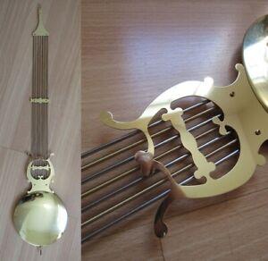 "LARGE 31.5"" Grandfather Clock Pendulum bob long HOWARD MILLER vintage GERMANY"