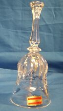 lead crystal bell over 24%pbo Bleikristall hand cut highly polished from Germany