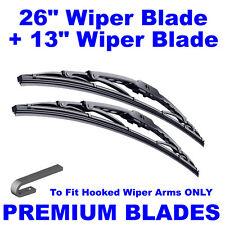 "Premium 26"" Inch & 13"" Inch Pair Front Windscreen Wiper Blades"