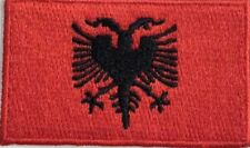 Albania Flag Small Iron On / Sew On Patch Badge 6 x 3.5cm Shqipëria Albanian