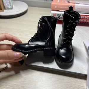 1/4 1/3 SD17 SSDF ID BJD Shoes Short Boots Solid Black Good Sole LUTS AOD SOOM