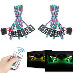 1 Set Pickup Truck Bed RGB 48 LED Light Kit with Wireless Control Waterproof