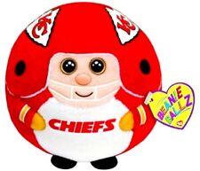 "KANSAS CITY CHIEFS NFL Ball Beanie Ballz 5"" TY Plush Toy NWT 5"" Ball"