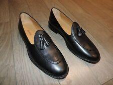 BELSIRE Black Leather Dress Shoes Tassel Loafers 8.5 US 41.5, 7.5 UK  4491