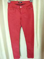 Pantalon Jean rouge coupe droite MIM Neuf étiquetteTaille FR40 US8 UK12 EUR38