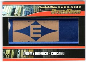 JEREMY ROENICK 2020-21 President's Choice Game-Used STICK RACK #3/10 Blackhawks
