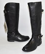 2159daaf438  400 FRYE Phillip Riding Tall Boot Buckle BLACK LEATHER EXTENDED CALF 6 B  (X8)