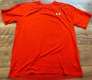 UNDER ARMOUR Bright Orange Loose Gym Athletic crossFIT Training Shirt mens Small