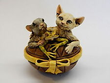 Harmony Kingdom Art Neil Eyre Designs tree frog mouse cat Easter egg gold box