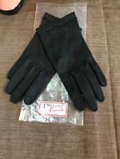 "Vinatge ""Crelon"" Crescendoe Grained (All) Nylon Black Gloves. Ladies Size 7."