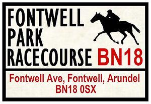 Équitation Route Plaques (Fontwell) - Amusant Souvenir Nouveauté Frigo Aimant -