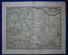 Antique atlas map NETHERLANDS, UTRECHT, ZUIDER ZEE, Henricius Hondius, c.1630