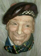 New Listing Chalkware Head Vintage Bossons Legend The Scotsman Wall Hanging Made in England