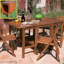 Tavolo Giardino Legno Richiudibile.Tavolo Pieghevole Con Sedie A Set Di Tavoli E Sedie Da Esterno