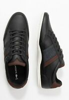 Lacoste Men Shoes Chaymon 120 4  Leather  Casual Sneakers Shoes Black Brown
