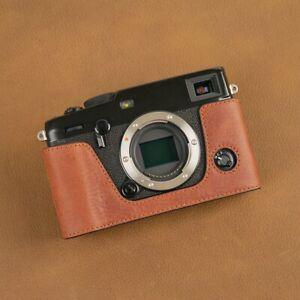 VR Handmade Genuine Leather Half Case for Fujifilm X-PRO3 XPRO3 Brown