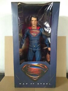 *REEL TOYS MAN OF STEEL SUPERMAN ACTION FIGURE 1/4 SCALE BATMAN JUSTICE DC