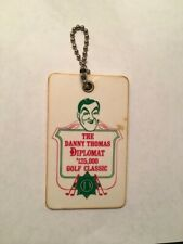 Vintage Very Rare The Danny Thomas 1969 Diplomat Golf Classic Golf Bag Tag