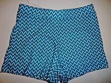 Gymboree Girls Chevron Print Teal White Knit Shorts Size 6