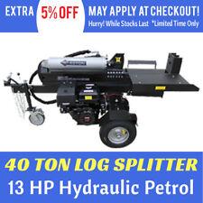6061b1dc494f New 40 Ton Hydraulic Log Splitter 13HP Petrol Black Diamond Wood Splitter