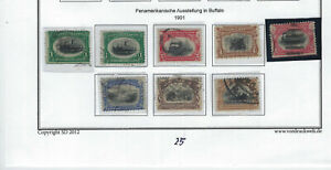 UNITED STATES-1901 ISSUE-THE SET- USED-FINE-PAN AMERICAN EXPO-#523