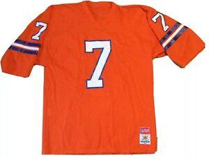 Vintage 90s John Elway #7 Denver Broncos jersey XL orange NFL Sand Knit football