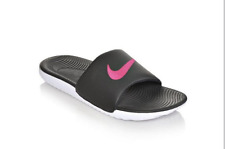 New Womens Nike Kawa Slide Sandals Style 834588-060 Black/Vivid Pink