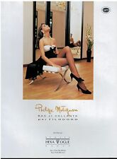 1991 FILODORO & Philippe Matignon   Hosiery , Tight :  French Magazine Print  AD