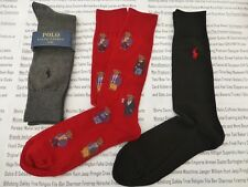 POLO RALPH LAUREN Exquisite Sock Novelty Bears Red Asstd Socks 3 pk BNIP  RRP£ 97fa37c454f9