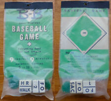 Mid-century Dice Game B-B BASEBALL GAME New Old Stock JON WEBER MANUFACTORY