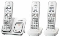 Panasonic KX-TGD533W Expandable Cordless Phone w/ Call Block & Answering Machine