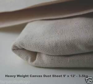 Cotton Canvas Heavy Duty Professional Quality 3.5KG Dust Sheet