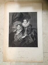 LADY AND CHILD - after Van Dyke - Smith sculp. 1811 William Miller